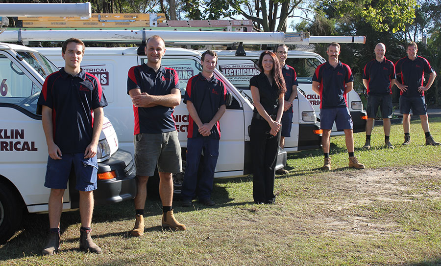 Your local Sunshine Coast electrical team at Nicklin Electrical.